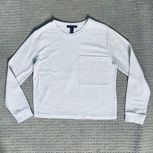 White Silver Sparkle Forever 21 Sweater